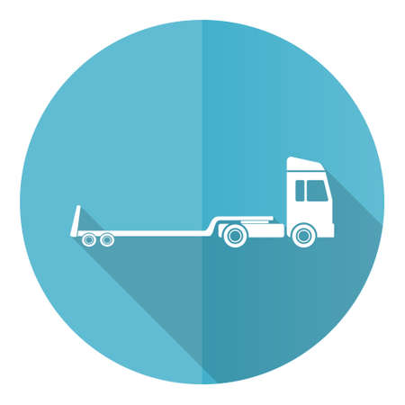 Truck with tow trailer, long vehicle concept illustration