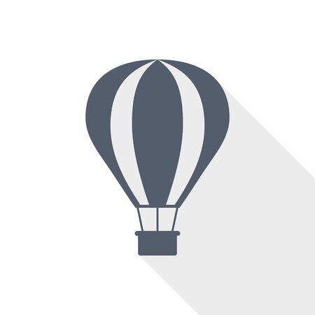 Balloon, air transport flat design vector icon