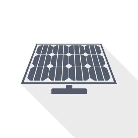 Solar panel, clean energy, power flat design vector icon