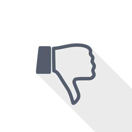 Dislike vector icon Ilustração
