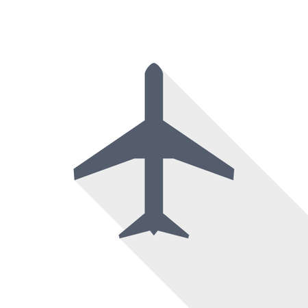 Plane, flight, airplane vector icon, flat design illustration in eps 10 向量圖像