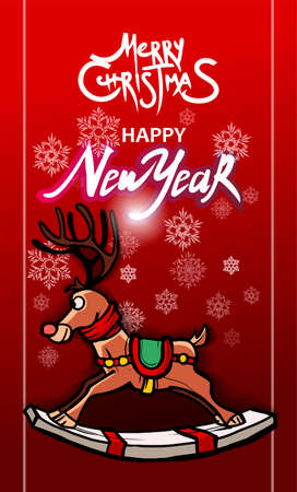 Happy New year. Rat. 2020. Mouse in Santa red hat with gift box. 2020 Chinese New year symbol. Merry Christmas and Happy New year greeting card. Christmas tree