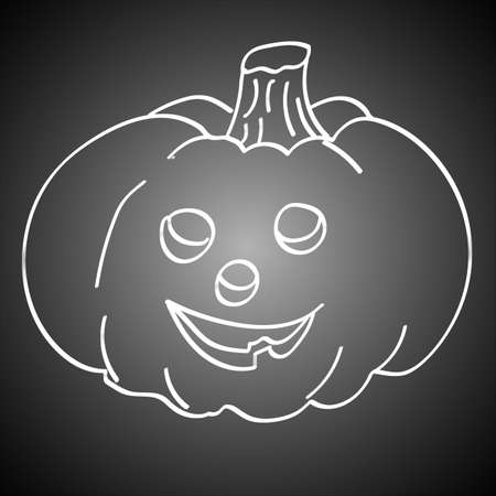 glowing carved: Halloween Pumpkin loop isolated on black background Illustration