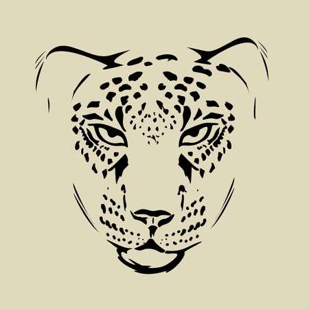 Conjunto De Guepardos Gráfico De Vector. Manchado Gatos Salvajes ...