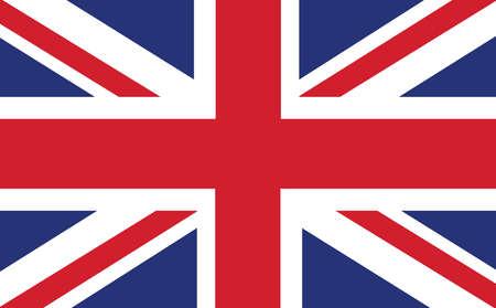 Closeup of Union Jack flag. The background of the UK flag.