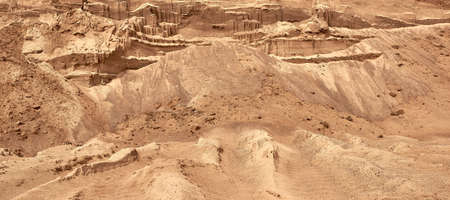 Industrial sand quarry. The development of the sand pit. Construction industry.