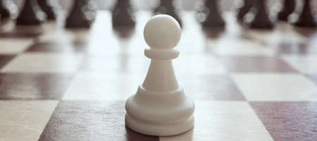Single pawn against many enemies as a symbol of difficult unequal fight or struggle of minorities.