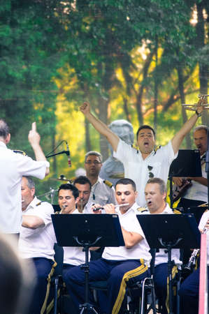 fanfare: military fanfare on concert
