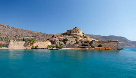 Crete Spinalonga Fortress Greece - Last Active Leprosy Colony photo