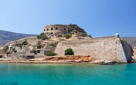 l�pre: Cr�te Spinalonga Forteresse Gr�ce - Derni�re colonie de l�pre active Banque d'images