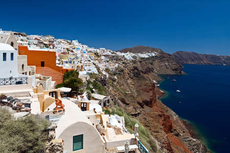 Idyllic view of Santorini  White architecture  Greece  photo