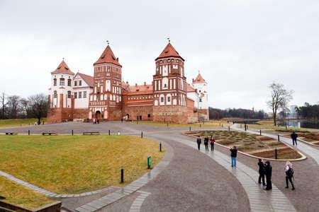 Medieval castle in town Mir in Belarus Stock Photo - 17436667