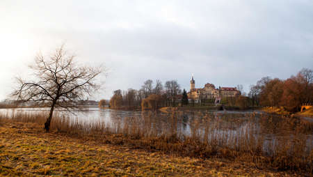 View to the Nesvizh Castle in Belarus