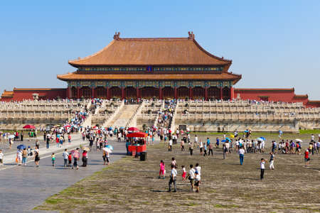 Imperial Palace in the forbidden city  gu gong  of Beijing  China