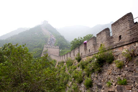 The Great Wall of China in the fog Stock Photo - 17722102