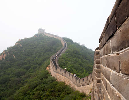 feats: The Great Wall of China in the fog
