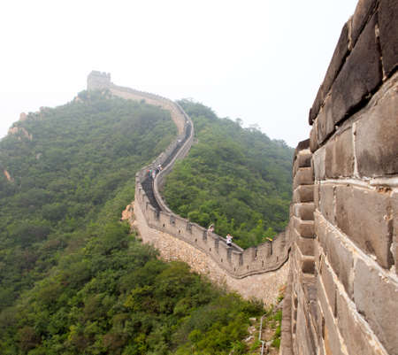 The Great Wall of China in the fog Stock Photo - 17720419