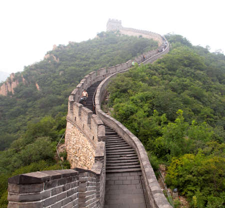 jinshaling: The Great Wall of China in the fog  Tourist Route