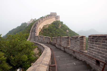 jinshaling: The Great Wall of China in the fog