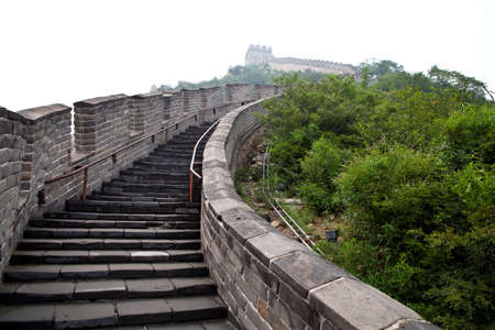 The Great Wall of China in the fog Stock Photo - 17722017