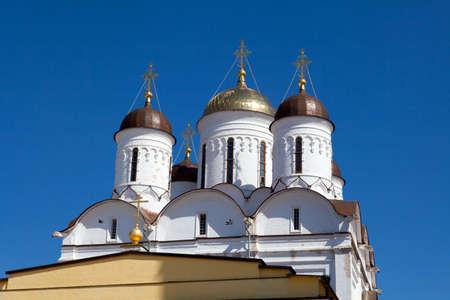 reverent: A view of Nativity Church  Pafnutiyev Monastery  Russia  Stock Photo
