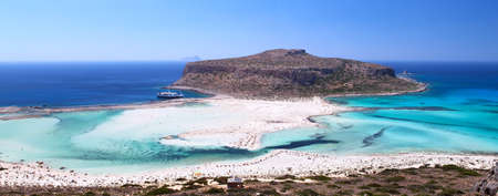 The place is called Bay Beach  Bay this remarkable because it is a place of merge of three seas - the Cretan and Mediterranean, and Ionian  photo