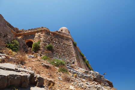 Gramvousa, a small island with the remains of a Venetian fort close to the coast of north-western Crete. photo