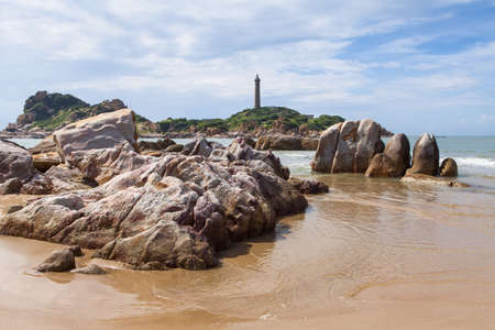 ga: Ke Ga beach at Mui Ne, Phan Thiet, Binh Thuan, Vietnam. Ke Ga Cape or lighthouse is the most favourite destination for visitors to Binh Thuan Province