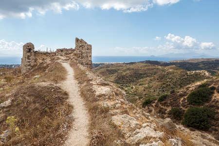 Old castle of Antimachia village in Kos island Greece Standard-Bild