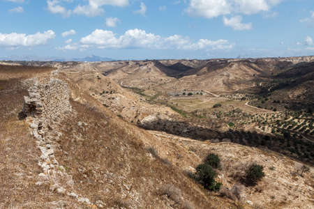 Panoramic view from castle of Antimachias village in Kos island Greece Standard-Bild