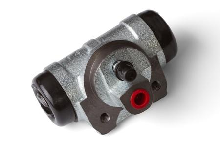 brake cylinder isolated on a white background photo