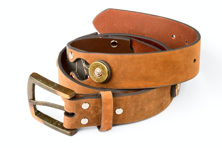 leather belt: Mens Belt isolatad on a white background