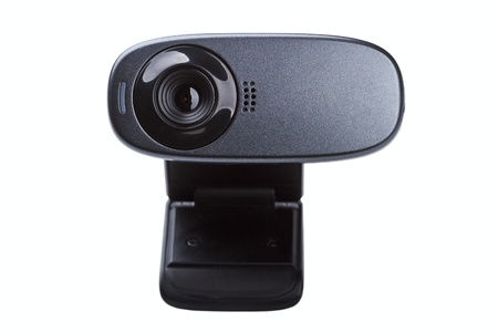 web camera isolated on a white background photo