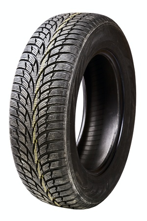 winter car tires isolated on a white background