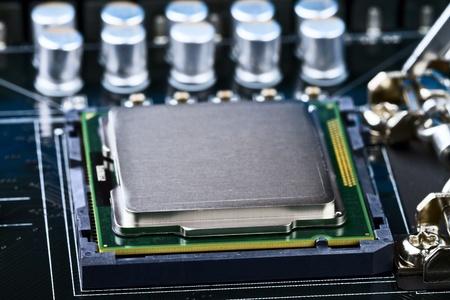 processor socket on computer motherboard photo