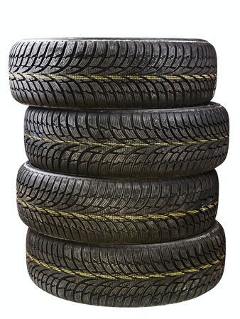 winter car tires isolated on a white background Stock Photo - 17006605