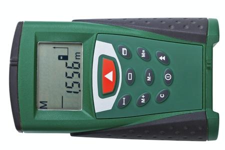 Laser Distance Measurer on a white background