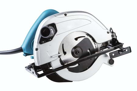 Circular saw isolated on a white background photo