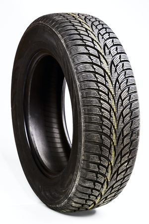 winter tires: winter car tires isolated on a white background