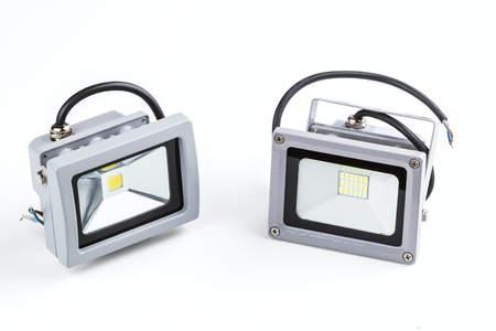 searchlights: LED industrial searchlights isolated on a white background