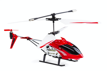 radio-controlled model of the helicopter isolated on a white background photo