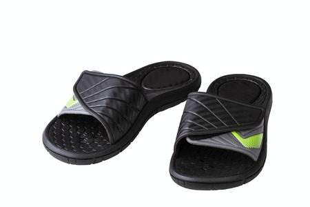 outsole: black slide isolated on white background