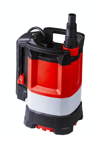 bomba de agua: sin aceite bomba de agua sumergible de utilidad aisladas sobre fondo blanco Foto de archivo