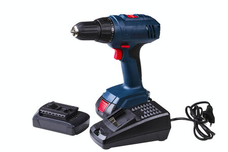 cordless drill isolated on white background Stock Photo - 25071033