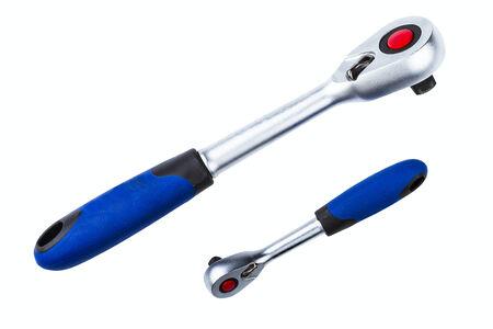 socket wrench: socket wrench isolated on white background