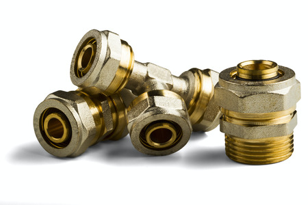 pipe fittings isolated on white background