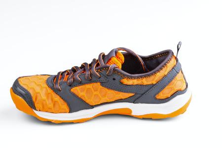 unisex: calzado deportivo Unisex aislado en el fondo blanco Foto de archivo