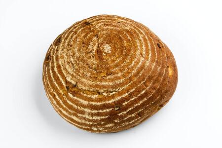 fresh white bread isolated on white background Stock Photo