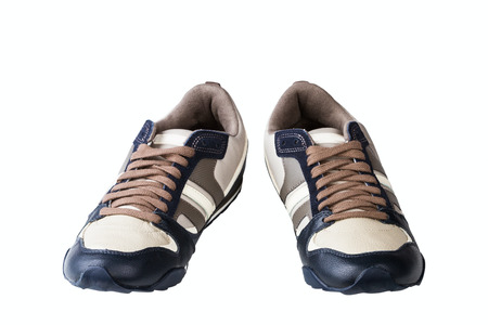 athletic mans shoes isolated on white background