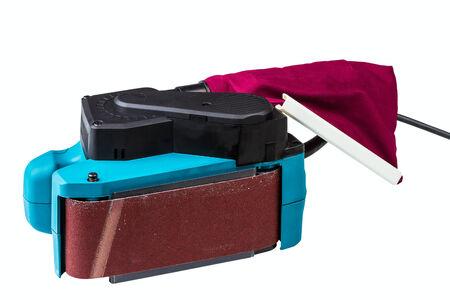 sander: belt sander isolated on a white background Stock Photo